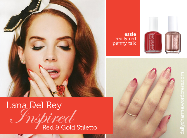 Tutorial Lana Del Rey Inspired Stiletto Nails Daily Charme