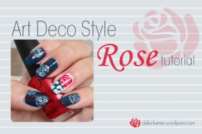 Tutorial: Art Deco Style Rose Nail