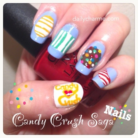 Candy Crush Saga Nails | daily charme