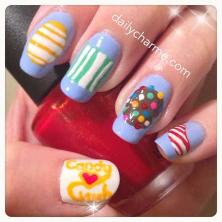Candy Crush Saga Nails Daily Charme