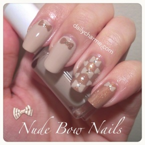 Nude Bow Nails