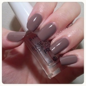 Rimmel Steel Grey and Base/Top Coat Swatch & Review