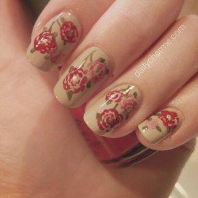 Spring Peony Nails