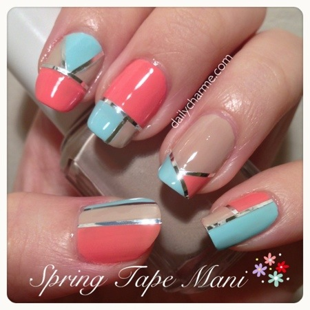 Nail Tape Mani Designs Daily Charme