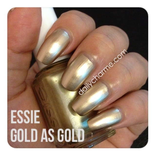 Essie Good As Gold Swatch & Review | daily charme
