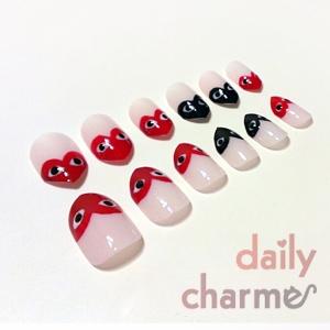 COMME des GARCONS heart stiletto nails