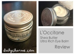 L'Occitane Shea Butter Ultra Rich Eye Balm Review