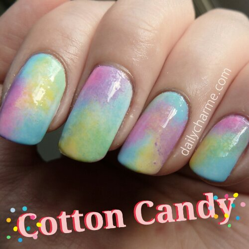 Sation Cotton Candy By Fingernail Polish: Colorful Cotton Candy Nails
