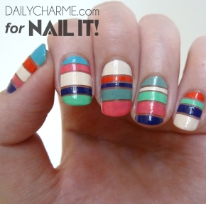 Summer Inspired Color Stripes for Nail It!