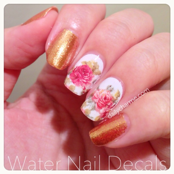 Floral Water Transfer Nail Decal