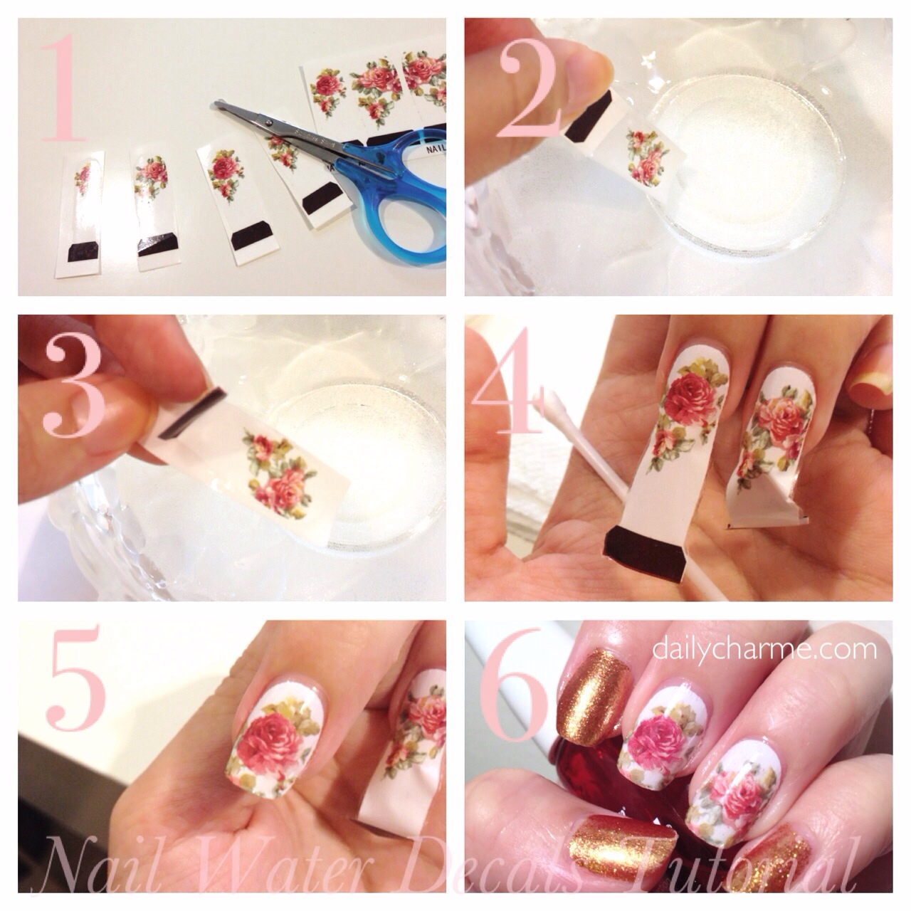 Fabulous Nails with Water Decals   daily charme