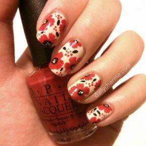 Poppy / Floral Pattern NailDesign