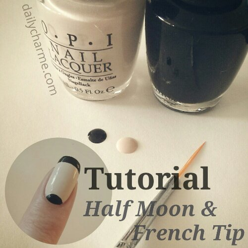 Tutorial: Classic with a Flair, Half Moon & French Tips ...