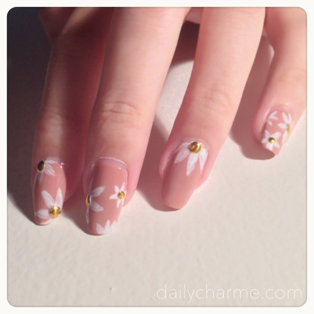 20130706-205012.jpg - Round Studs Nail Designs: Gold & HOLO! Daily Charme