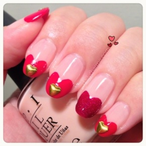 Heart on Heart French Mani