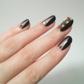 Tutorial: Studded Black & Nude Nails