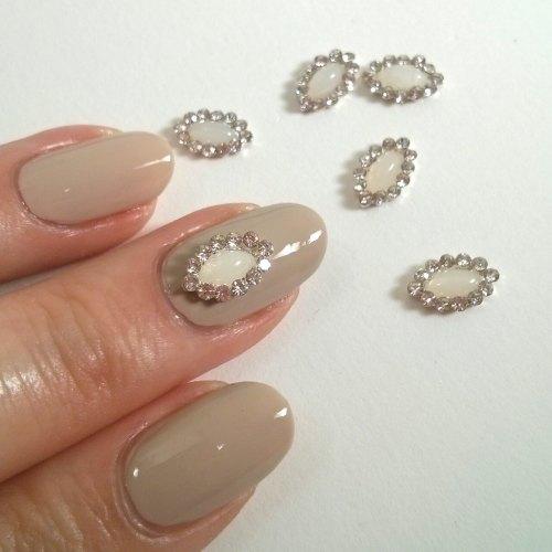 3d nail decor charm oval gem