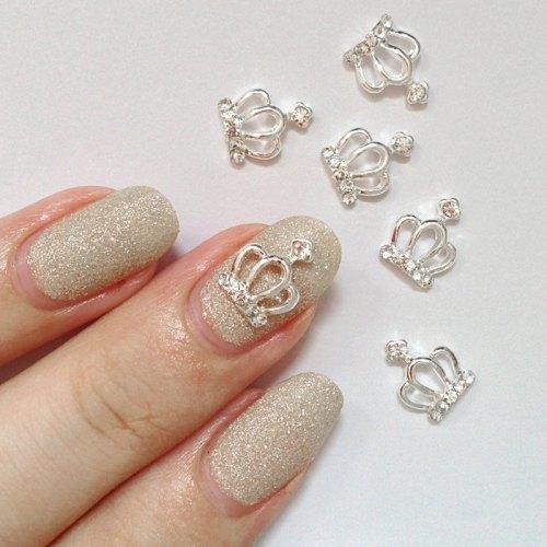 3d nail charm crystal crown