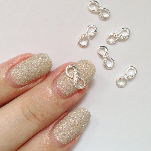 3d nail charm infinity bow