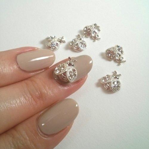 3d nail charm beetles